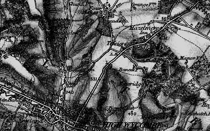 Old map of Terriers in 1895