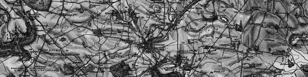 Old map of Tetbury in 1896