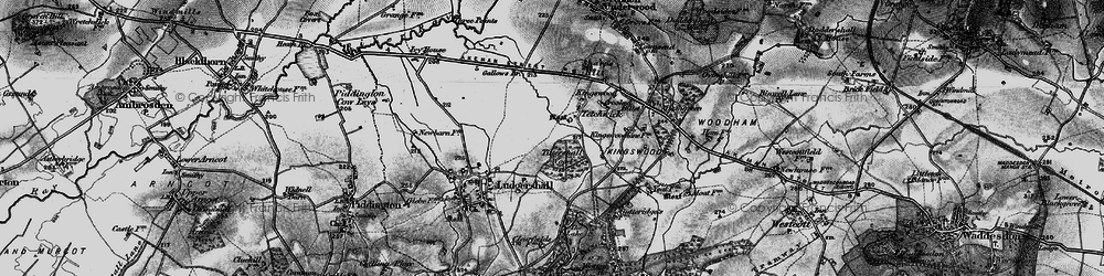 Old map of Tittershall Wood in 1896