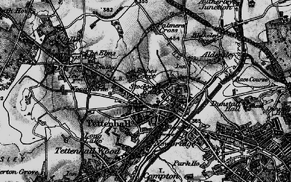 Old map of Tettenhall in 1899