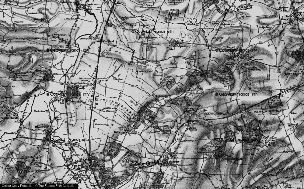 Old Map of Historic Map covering White Wood in 1896