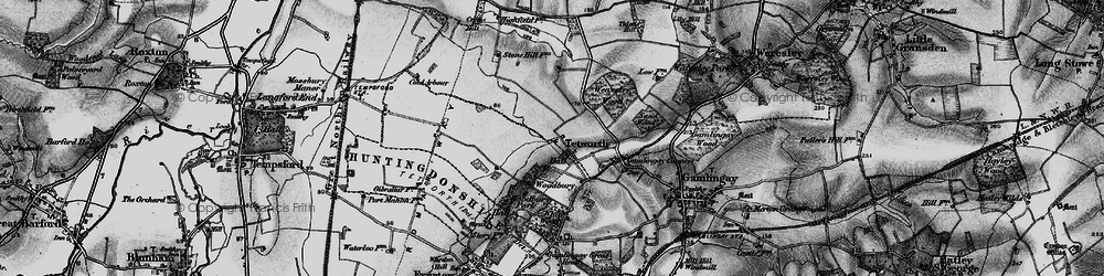 Old map of White Wood in 1896