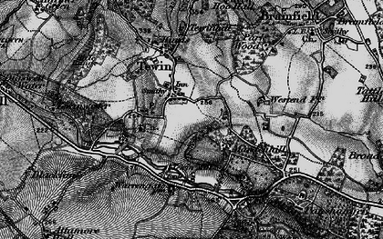 Old map of Tewin in 1896