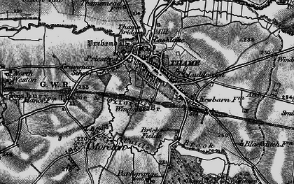 Old map of Thame in 1895