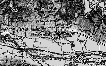 Old map of Thatcham in 1895