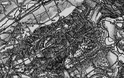 Old map of The Bourne in 1895