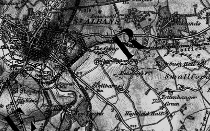 Old map of The Camp in 1896