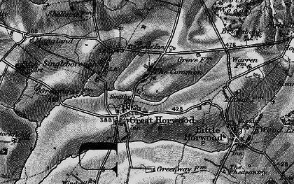Old map of The Common in 1896