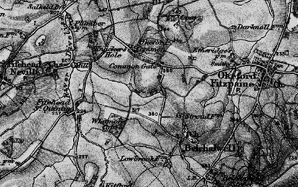 Old map of Banbury Hill (Fort) in 1898