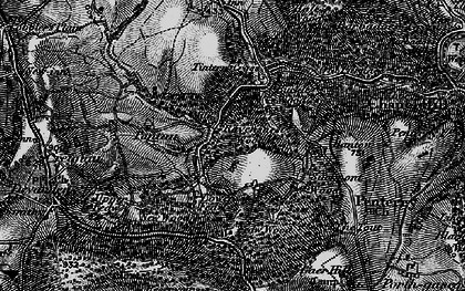 Old map of Tintern Cross in 1897