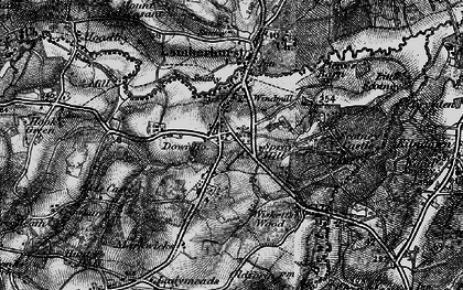 Old map of Wiskett's Wood in 1895