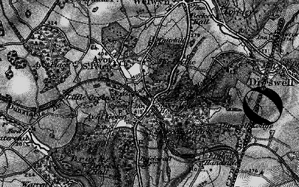 Old map of The Frythe in 1896