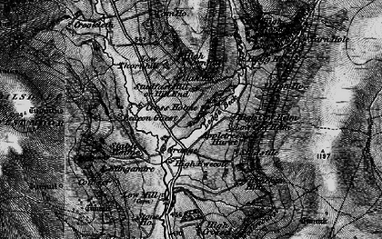 Old map of Ledge Beck in 1898