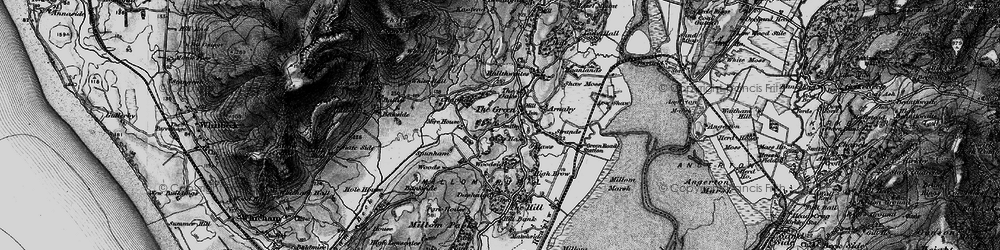 Old map of Whicham Mill in 1897