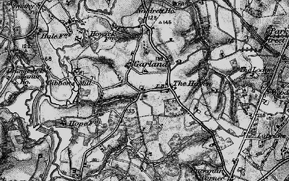 Old map of Gibbons Mill in 1895
