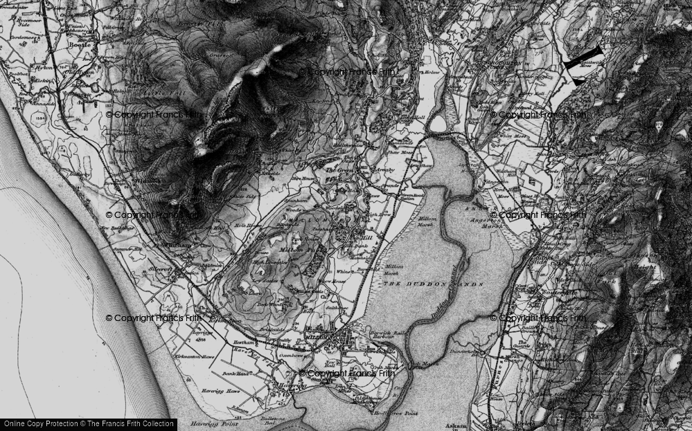 Old Map of Historic Map covering Woods in 1897
