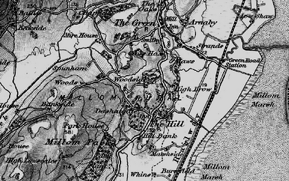 Old map of Woods in 1897