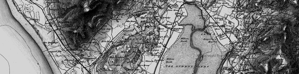 Old map of Whicham Valley in 1897