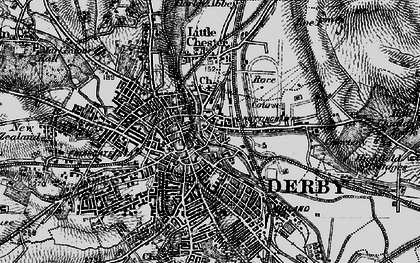 Old map of The Holmes in 1895