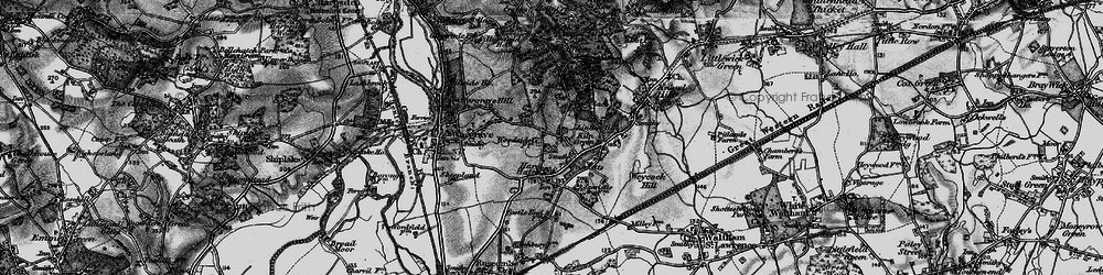 Old map of Yeldall Manor in 1895