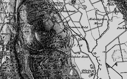 Old map of Whitbarrow Scar in 1897