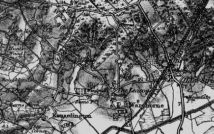 Old map of Orlestone Lodge in 1895