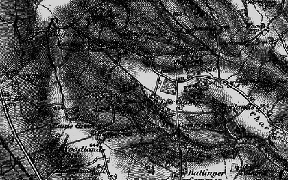 Old map of The Lee in 1895