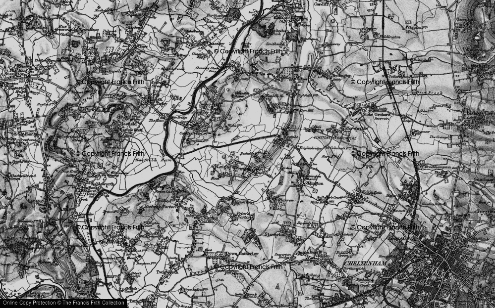 Old Map of Historic Map covering Leigh Ho in 1896