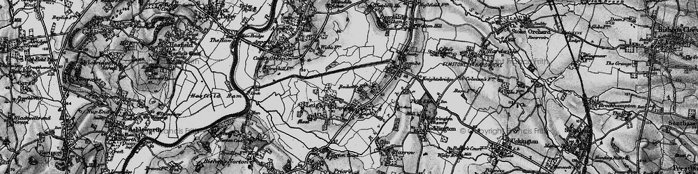 Old map of Leigh Ho in 1896
