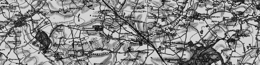 Old map of Lings, The in 1898