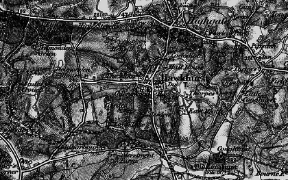 Old map of Lillesden in 1895