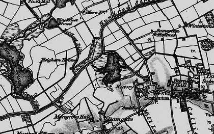 Old map of The Norfolk Broads in 1898