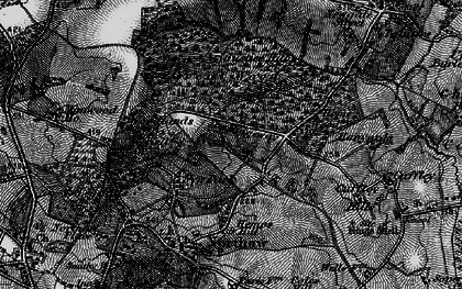 Old map of The Ridgeway in 1896