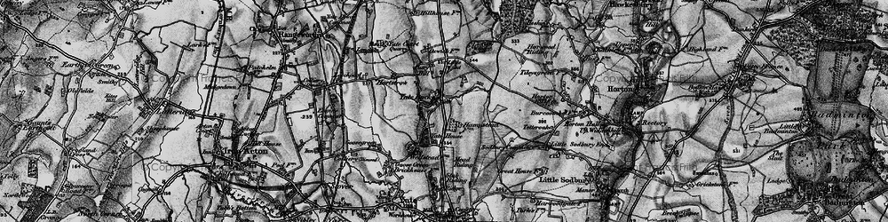 Old map of Yate Court in 1898