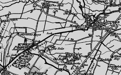 Old map of Bagnall in 1898