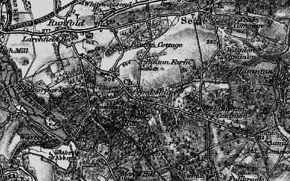 Old map of The Sands in 1895