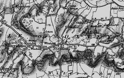 Old map of Acton in 1895
