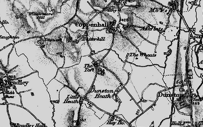 Old map of Wheats, The in 1897