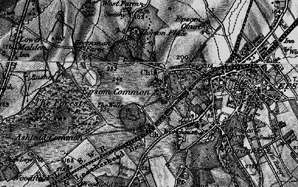 Old map of Woodcote Stud in 1896