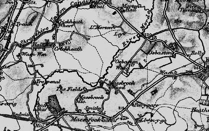 Old map of Ley in 1897