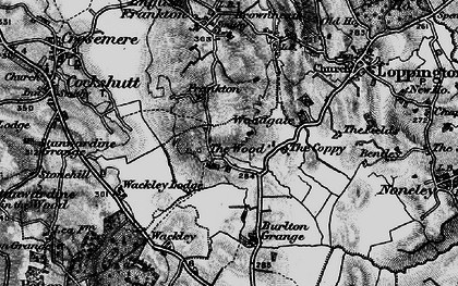 Old map of Woodgate in 1897