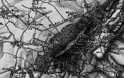 Old map of The Wrekin in 1899