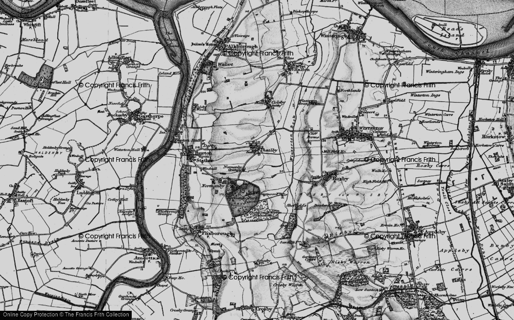 Old Map of Historic Map covering Barkers Holt in 1895