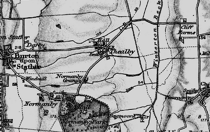 Old map of Barkers Holt in 1895