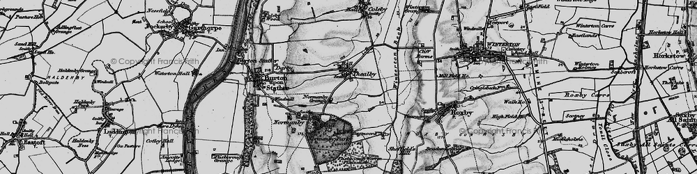 Old map of Winterton Beck in 1895