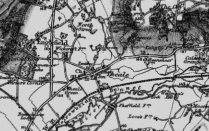 Old map of Theale in 1895