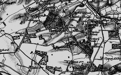 Old map of Leiston Abbey in 1898
