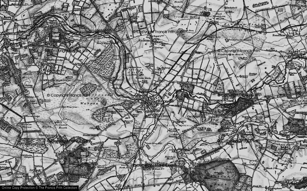 Old Map of Historic Map covering Abbey Heath in 1898