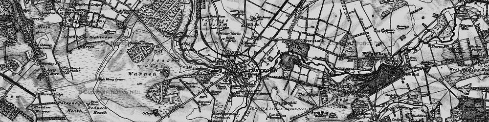 Old map of Abbey Heath in 1898