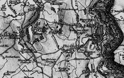 Old map of Whitestone Cliff in 1898